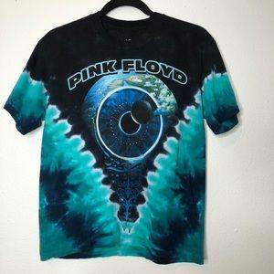 Liquid Blue Pink Floyd Pulse tie dye graphic tee
